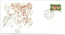 Nauru 1991 373 FDC - Fleurs - Dessin Basil Smith - Nauru