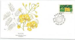 Nauru 1991 372 FDC - Fleurs - Dessin Basil Smith - Nauru