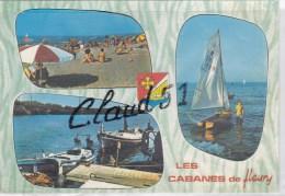 Les Cabanes De Fleury (11)  Multivue ,la Plage, L'embarcadère Aux Berges De L'Aude - Frankreich