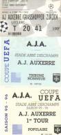 Football : Ticket Uefa AJ Auxerre - Grasshopper Zürich Suisse 16/10/1996 - Tickets - Vouchers
