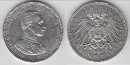 **** PREUSSEN - PRUSSIA - ALLEMAGNE - GERMANY - 5 MARK 1913 A WILHELM II - ARGENT - SILVER **** EN ACHAT IMMEDIAT !!! - [ 2] 1871-1918 : Empire Allemand
