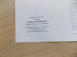 Doodsprentje Stefaan Coopman Zwevegam 27/1/1924 Oostende 19/11/1998 ( José Provost ) - Religion & Esotericism