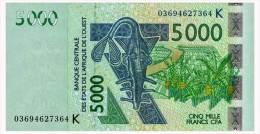 WEST AFRICAN STATES SENEGAL 5000 FRANCS 2003 Pick 717Ka Unc - West African States