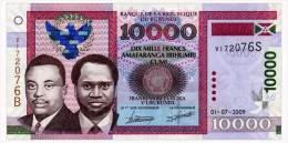 BURUNDI 10000 FRANCS 2009 Pick 43c Unc - Burundi
