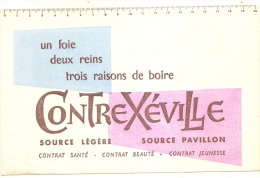 BUVARD - Alimentation -CONTREX Contrexeville  Source Pavillon Petit Pli - Food