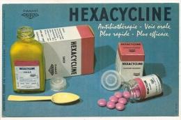 BUVARD - Pharmacie  - Laboratoires DIAMANT - HEXACYCLINE Antibiothérpie - Chemist's