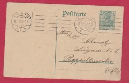 ALLEMAGNE  //  POSTKARTE   //   DE HAMBURG  //  POUR RAPPOLTSWEILER  //  16/3/1913 - Ganzsachen