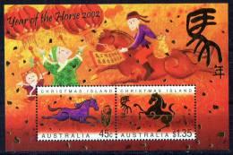 Christmas Island 2002 Year Of The Horse Minisheet MNH - Christmas Island