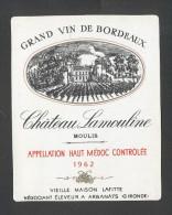 Etiquette De Vin  -  Chateau Lamouline  -  Haut Médoc -  1962 - Bordeaux