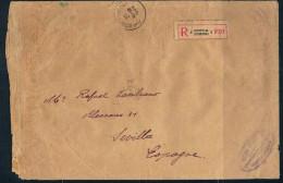 1933. Belgica. Carta Circulada Por Correo Certificado A Sevilla - Bélgica