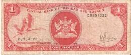 BILLETE DE TRINIDAD Y TOBAGO DE 1 DOLAR DEL AÑO 1964 (BANKNOTE) - Trinidad & Tobago