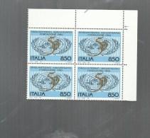 QUARTINA BLOCK ITALIA 1994 CINQUANTESIMO ANNIVERSARIO ONU - UNO