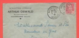 HAGONDANGE 8.10.46  Moselle Entête: Bonneterie Lorraine Arthur Oswald - Alsace-Lorraine