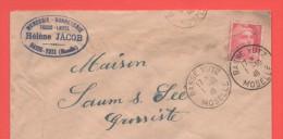 BASSE YUTZ 1.10.1946  Moselle Entête: Mercerie Bonneterie Tissus Laines Hélène Jacob - Alsace-Lorraine