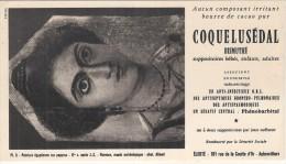 Buvard Pharmaciotique - BUVARD / BLOTTER / Coquelusedal  Bismuté LABORATOIRES Elerté - Peinture Egyptienne - Chemist's