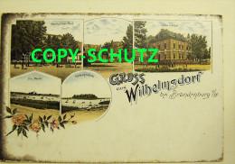 WILHELMSDORF Brandenburg H. - Litho - Z. B. Gasthof Z. Post - Villa Dähne - Deutschland