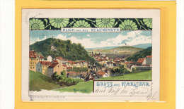 REPUBLIQUE TCHEQUE / TCHEQUIE / GRUSS Aus KARLSBAD / BLICK Von Der HELENENSTR / Illustration Signé - Cartes Postales