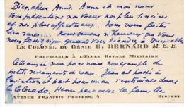 VP1020 - MILITARIA - CDV - Carte De Visite - Le Colonel Du Génie H. BERNARD M.B.E. - STOCKEL - Tarjetas De Visita