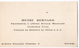 VP1021 - MILITARIA - CDV - Carte De Visite - Le Colonel Du Génie H. BERNARD M.B.E. - STOCKEL - Tarjetas De Visita