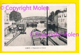 PENICHE ----- LA PASSERELLE DU VICINAL 1906 NAMUR BATEAU AAK PONT CHEMIN DE FER RAIL TRAIN TRAM TRAMWAY 3156 - Embarcaciones