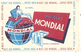 Buvard - BUVARD / BLOTTER /  Nuit Sur Mondial Matelas Mondial TTB - Buvards, Protège-cahiers Illustrés