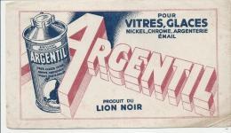 Buvard - BUVARD / BLOTTER /  ARGENTIL Pour Vitres Et Glaces /Produit Du LION NOIR  - Petite Déchirure - Cake & Candy