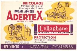 "Buvard - BUVARD / BLOTTER /  Adertex - Cellophane "" En Vente Librairies Papeteries ""  TTB - Produits Ménagers"
