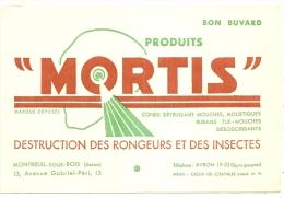 - BUVARD / BLOTTER /  MORTIS Destruction Des Rongeurs  TTB - Produits Ménagers