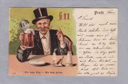 Motiv Sucht Bier Litho 1904.VII.7 Wallisellen Nach St. Moritz - Cartes Postales