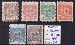 MAROC - YVERT N° P.C.9/14 * - COTE 19 EUR - Lokalausgaben