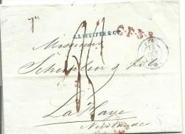 Brief-omslag 1840 Van Parijs Naar Den Haag, Met Stempel PARIJS En Rayonstempel C.F.3.R. Voorzijde, FRANKRIJK OVER BREDA - Frankrijk