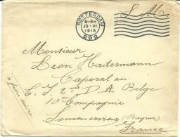 1915 Envelop, Militair, Van Rotterdam Naar Frankrijk  Postes Militaires Belgique, Belgie Legerposterijen - Belgisch Leger