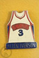 Allen Iverson - Basketball Sixers Team No 3 T-Shirt, NBA  Pin Badge  - #PLS - Baloncesto