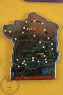 France Map - Le Tour De France 1991  Pin Badge  - #PLS - Ciclismo