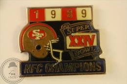 NFC Champions 1989 - American Footbal Super XXIV Bowl  -  Pin Badge - #PLS - Rugby