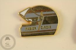 Fabien Giroix Motorcycle Racing Helmet - Pin Badge - #PLS - Motos