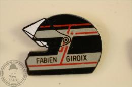Fabien Giroix Motorcycle Racing Helmet 2 - Pin Badge - #PLS - Motos