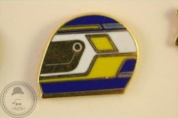 Motorcycle Racing Helmet - Pin Badge - #PLS - Motos
