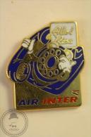 Air Inter Blue Telephone - Advertising Pin Badge - #PLS - Marcas Registradas