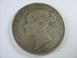 UK GREAT BRITAIN ENGLAND 1/2 HALF CROWN  1886 COIN DIAMETER  32 MM  LOT 17  NUM  2 - K. 1/2 Crown