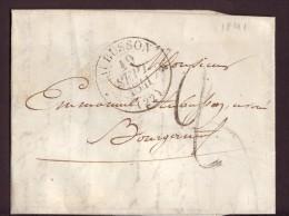 1841,AUBUSSON Pour BOURGANEUF,Taxe,VOIR LES SCANS. - Marcophilie (Lettres)