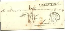 Complete Vouwbrief 4-2-1870 Van IJsselstein Via Utrecht Naar  Arnhem  Met Egyptisch Langstempel YSSELSTEIN 33 X 5 Mm - ...-1852 Voorlopers