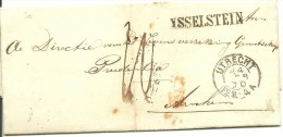Complete Vouwbrief 4-2-1870 Van IJsselstein Via Utrecht Naar  Arnhem  Met Egyptisch Langstempel YSSELSTEIN 33 X 5 Mm - Nederland