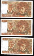 10 Frs Berlioz Du  2 06 1977 ( R.300 - 905315/16/17 ) Par 3  Numéros A La Suite   Cat Fayette N° 63   Spl/Neuf - 1962-1997 ''Francs''