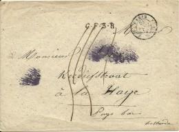 Envelop Van Parijs Naar 's-Gravenhage, Met Rayonstempel C.F.3.R. In Kleine Letters, Stempel PARIS En ETRANGE - Frankrijk