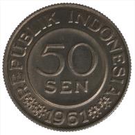 Indonesia 50 Sen 1961 #5233A