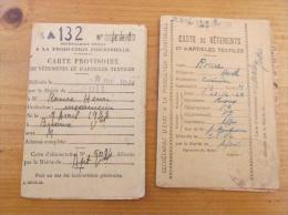 Lot De 2 Cartes De Vêtements Et Textiles Apt Vaucluse - 1939-45