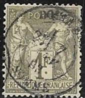 N° 72 FRANCE OBLITERES - Type Sage 1f Bronze  - Type I   1876/78 - 1876-1878 Sage (Type I)