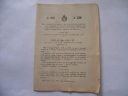 PORTO DI TERMOLI  IL QUALE APPRODO NEI RIGUARDI DELLA DIFESA MILITARE DELLO STATO  REGIO DECRETO 1907 - Decreti & Leggi