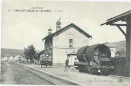 15 - CHAMPAGNAC-LES-MINES -  La Gare (impeccable) - Other Municipalities